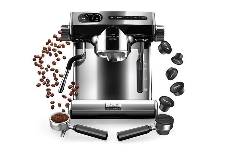 Sunbeam Café Series Espresso Machine plus Multi-Capsule Handle (EM7100)