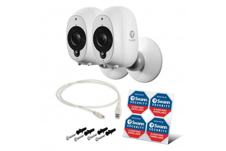 Swann Smart Security Wireless 1080p Battery Camera with True Detect - 2 Pack (SWWHD-INTCAMPK2)