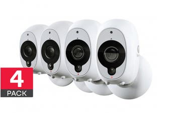 Swann Smart Security Wireless 1080p Battery Camera with True Detect - 4 Pack (SWWHD-INTCAMPK4)