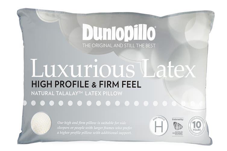 Dunlopillo Luxurious Latex High Profile Pillow (Firm Feel)