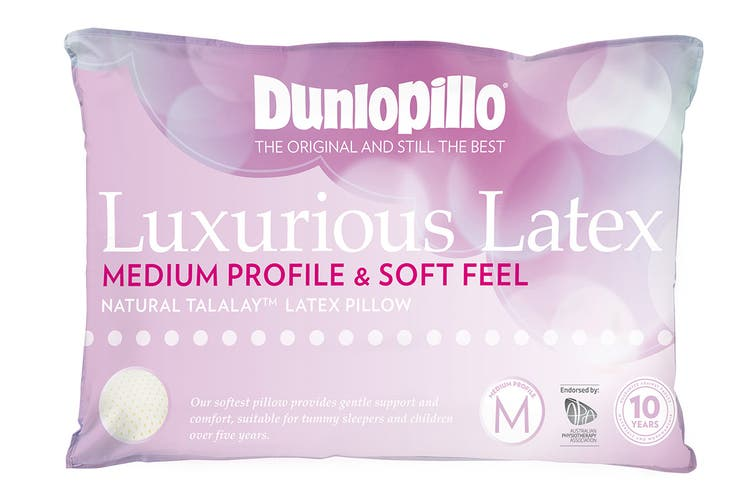 Dunlopillo Luxurious Latex Medium Profile Pillow (Soft Feel)