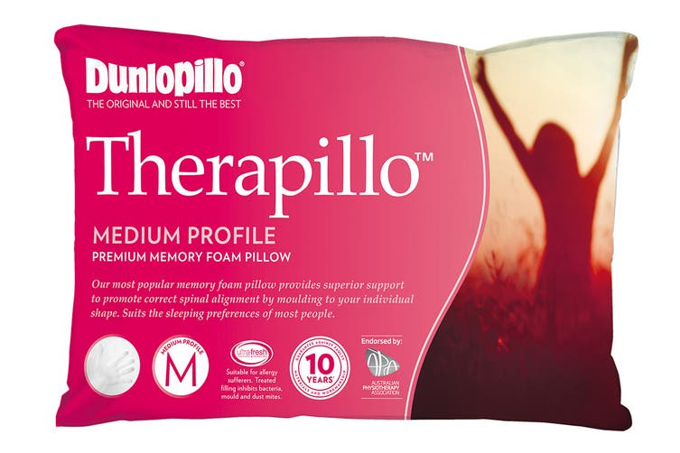 Dunlopillo Therapillo Premium Memory Foam Pillow (Medium Profile)
