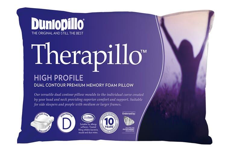 Dunlopillo Therapillo Premium Memory Foam Contour Pillow (High)