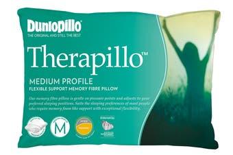 Dunlopillo Therapillo Flexible Support Memory Fibre Pillow (Medium Profile)