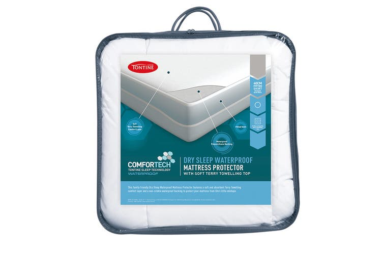 Tontine Comfortech Waterproof Fitted Mattress Protector (King Single)