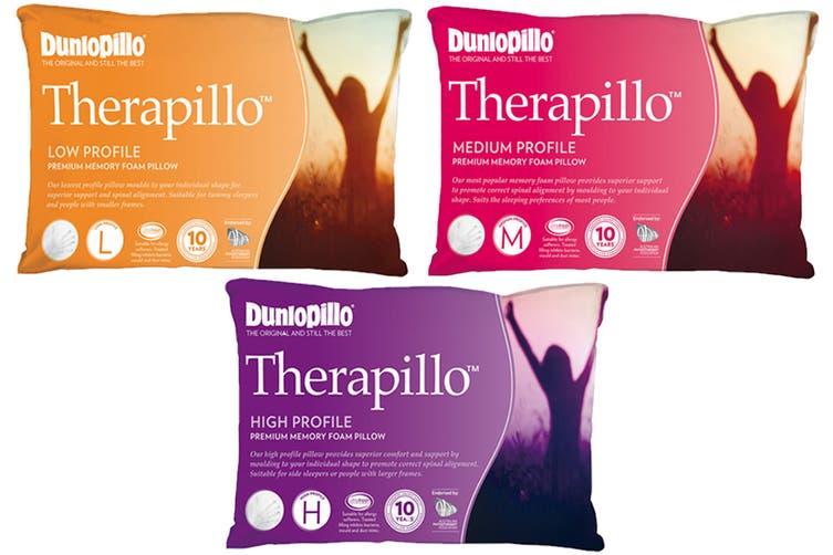 Dunlopillo Therapillo Premium Memory Foam Pillow (Low Profile)