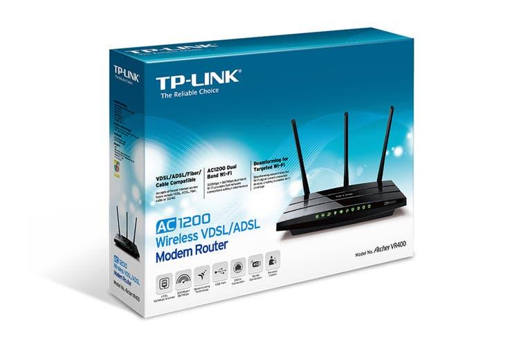 TP-Link Archer AC1200 Wireless VDSL/ADSL Modem Router (TD-ARCHERVR400)