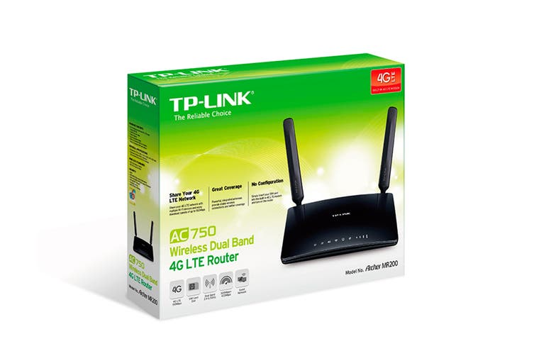 TP-Link Archer AC750 Wireless Dual Band 4G LTE Router (TL-ARCHERMR200)