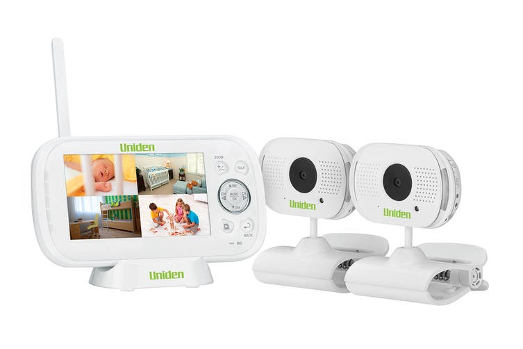 """Uniden 4.3"""" Two Camera Digital Wireless Baby Video Monitor with Remote Viewing"""