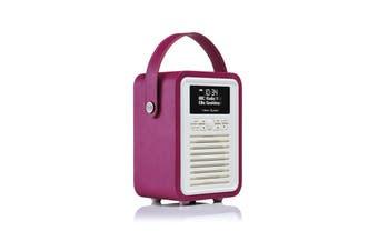 View Quest Retro Mini DAB+ Radio & Speaker - Deep Purple (MINI-DP)