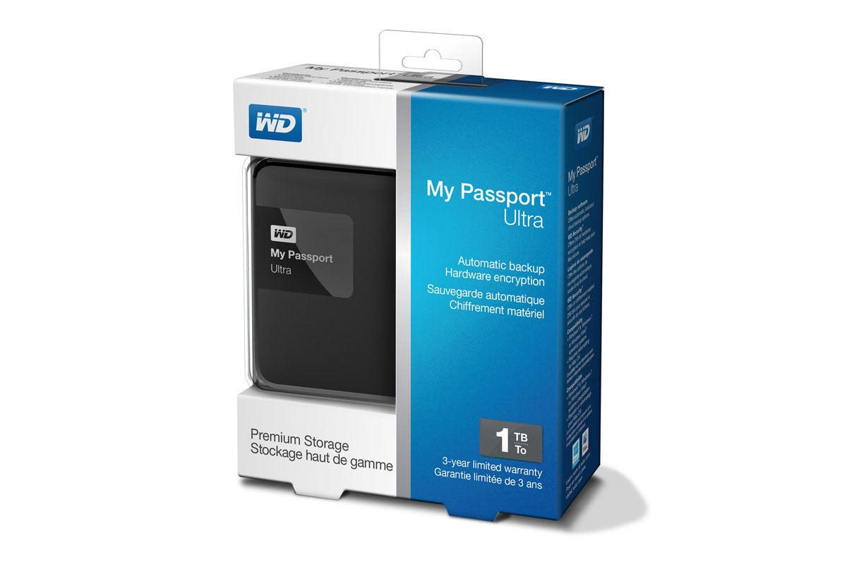 wd my passport ultra portable 2 5 1tb external usb 3 0 hdd black ebay. Black Bedroom Furniture Sets. Home Design Ideas