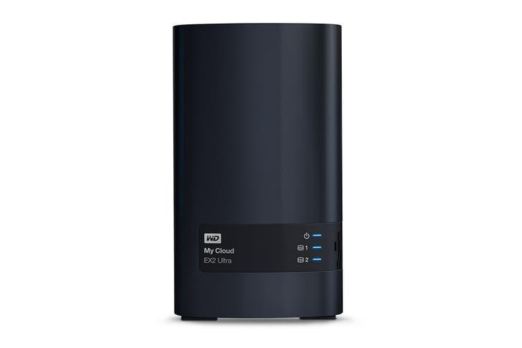 WD 12TB My Cloud EX2 Ultra 2-Bay NAS, RAID, Media Server (WDBVBZ0120JCH-SESN)
