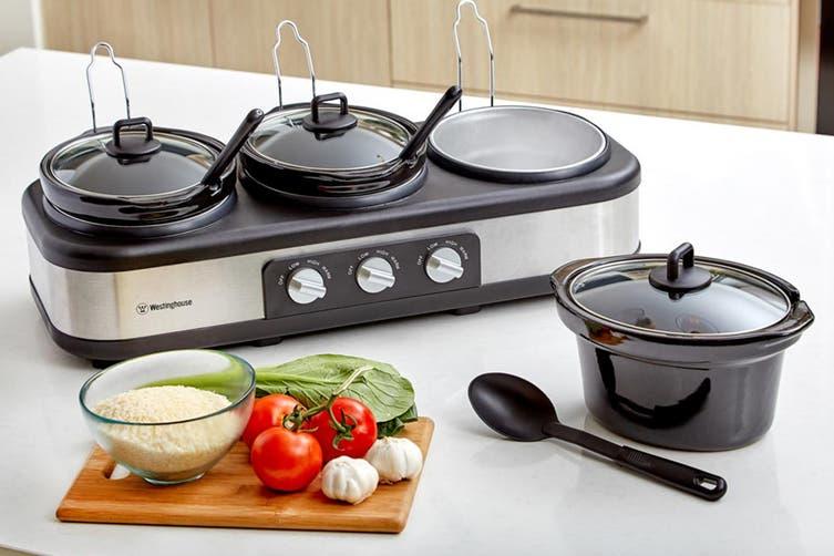 Westinghouse 3 x 2.5L Pot Slow Cooker