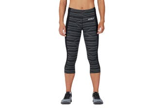 2XU Women's Fitness Compression 3/4 Tights (Phantom Wave/Black)