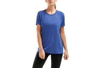2XU Women's HEAT Short Sleeve Run Tee (Blue)