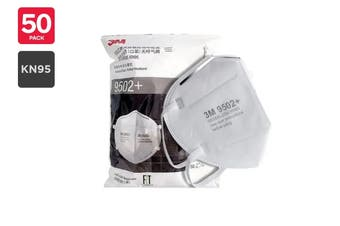 3M 9502+ KN95 Particulate Respirator Mask (50 Pack)