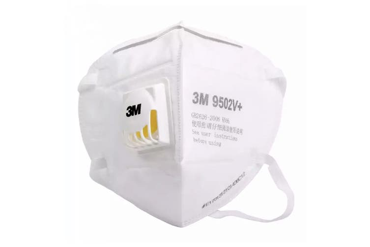 3M 9502V+ KN95 Particulate Respirator Mask with Valve (25 Pack)