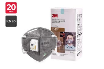 3M N95 9541V KN95 Particulate Respirator Mask with Valve (20 Pack)