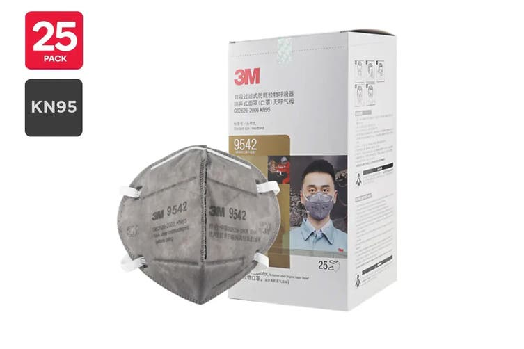 3M 9542 KN95 Particulate Respirator Mask (25 Pack)