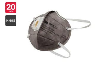 3M N95 9542V KN95 Particulate Respirator Mask with Valve (20 Pack)