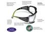3M SF401AF SecureFit Protective Eyewear