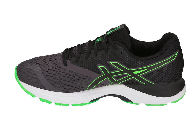 ASICS Men's GEL-Pulse 10 Running Shoe (Dark Grey/Green Gecko, Size 8)