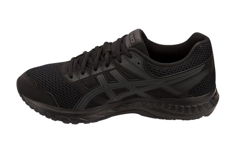 ASICS Men's GEL-Contend 5 Running Shoe (Black/Dark Grey, Size 9.5)