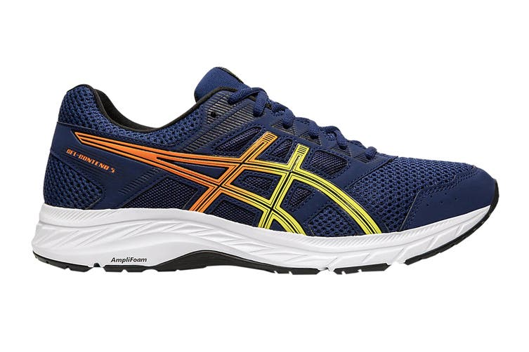 ASICS Men's Gel-Contend 5 Running Shoe (Blue Expanse/Sour Yuzu, Size 10 US)