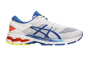 ASICS Men's Gel-Kayano 26 Running Shoe (White/Lake Drive, Size 10.5 US)