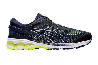 ASICS Men's Gel-Kayano 26 Running Shoe (Peacoat/Safety Yellow)