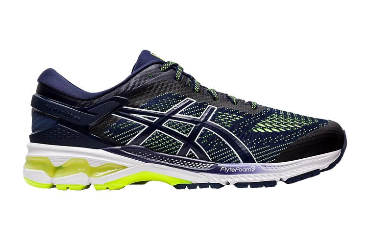 ASICS Men's Gel-Kayano 26 Running Shoe (Peacoat/Safety Yellow, Size 8.5 US)