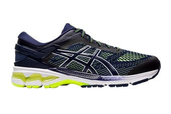 ASICS Men's Gel-Kayano 26 Running Shoe (Peacoat/Safety Yellow)