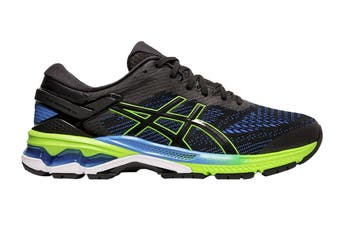 ASICS Men's Gel-Kayano 26 Running Shoe (Black/Electric Blue, Size 12.5 US)