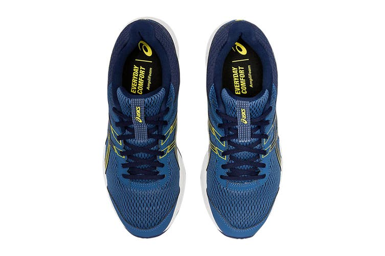 ASICS Men's Gel-Contend 6 Running Shoe (Grand Shark/Vibrant Yellow, Size 10.5 US)