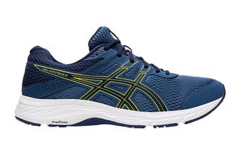 ASICS Men's Gel-Contend 6 Running Shoe (Grand Shark/Vibrant Yellow)