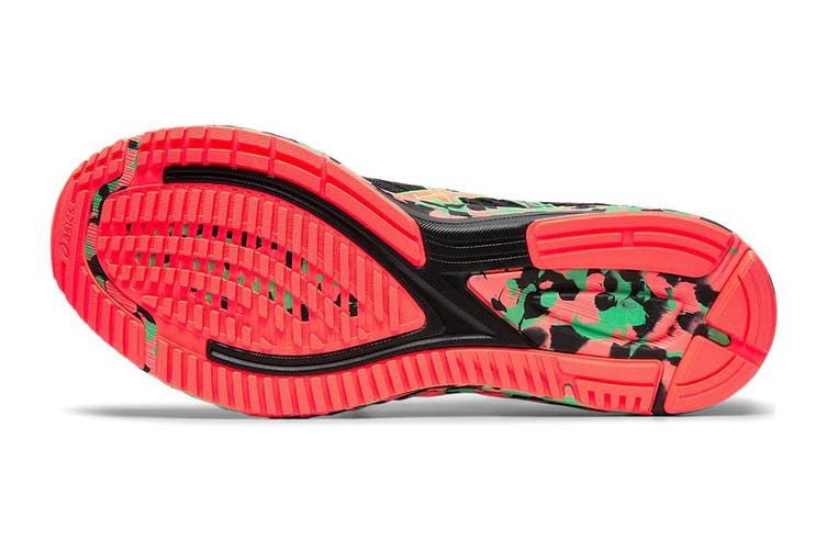 ASICS Men's Gel-Noosa Tri 12 Running Shoe (Black/Flash Coral, Size 10 US)