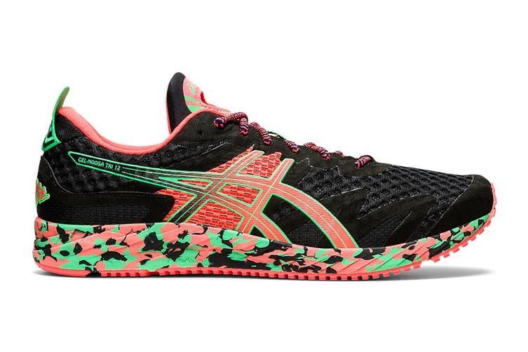 ASICS Men's Gel-Noosa Tri 12 Running Shoe (Black/Flash Coral, Size 9 US)