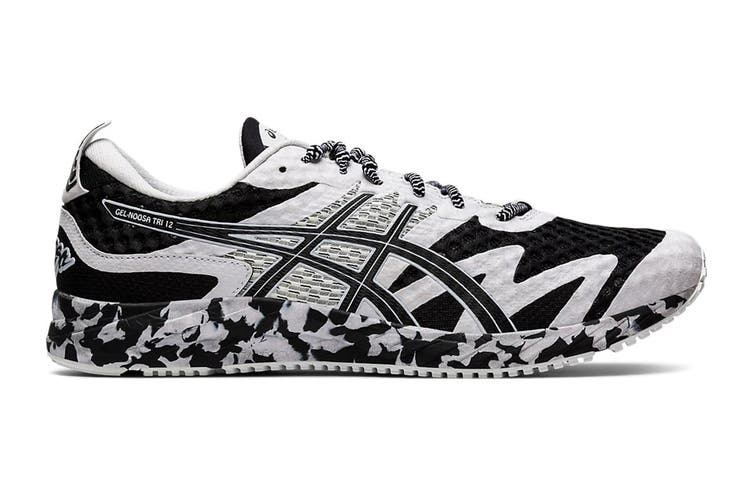 ASICS Men's Gel-Noosa Tri 12 Running Shoe (Black/White, Size 8 US)