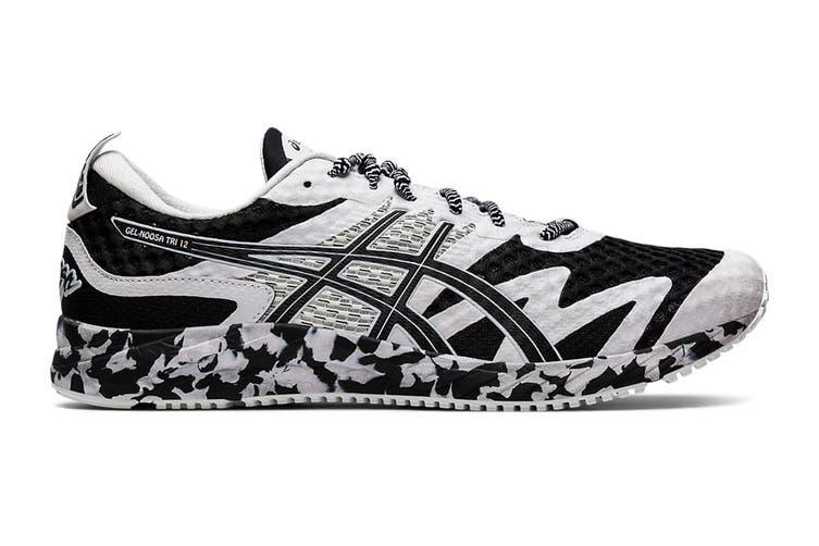 ASICS Men's Gel-Noosa Tri 12 Running Shoe (Black/White, Size 9.5 US)