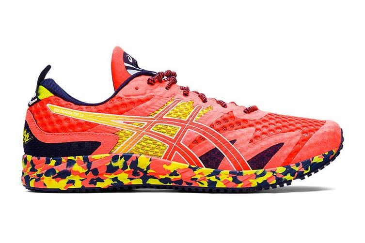 ASICS Men's Gel-Noosa Tri 12 Running Shoe (Flash Coral/Flash Coral, Size 8 US)