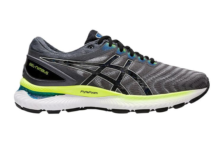 ASICS Men's Gel-Nimbus 22 Running Shoe (Piedmont Grey/Black, Size 14 US)