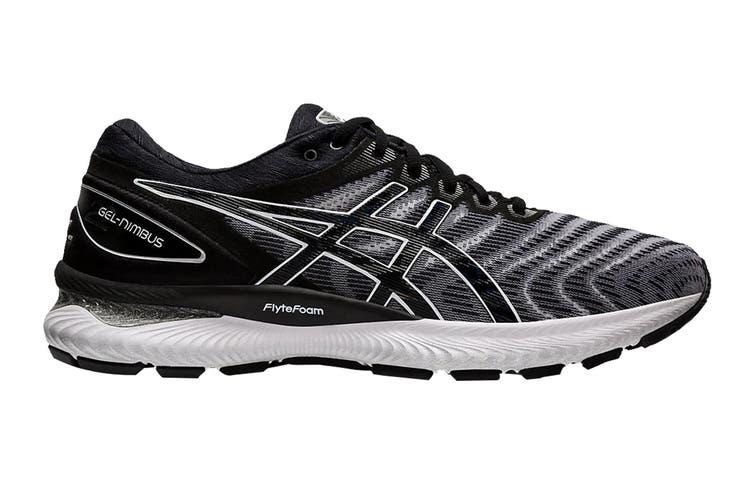 ASICS Men's Gel-Nimbus 22 Running Shoe (White/Black, Size 9.5 US)