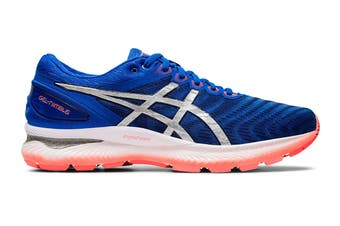 ASICS Men's Gel-Nimbus 22 Running Shoe (Tuna Blue/Pure Silver)