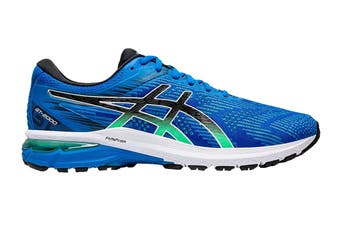 ASICS Men's GT-2000 8 Running Shoe (Electric Blue/Black, Size 9.5 US)