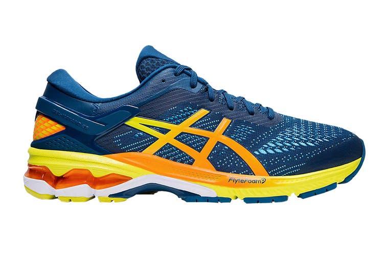 ASICS Men's Gel-Kayano 26 Running Shoe (Mako Blue/Sour Yuzu, Size 9.5 US)