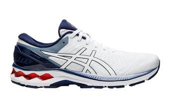 ASICS Men's Gel-Kayano 27 Running Shoe (White/Peacoat, Size 7 US)