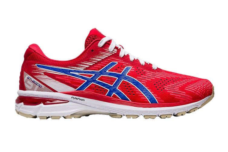 ASICS Men's GT-2000 8 Running Shoe (Classic Red/Electric Blue, Size 9.5 US)