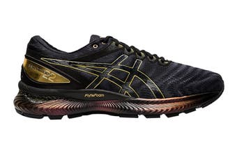 ASICS Men's Gel-Nimbus 22 Platinum Running Shoe (Black/Pure Gold, Size 9.5 US)