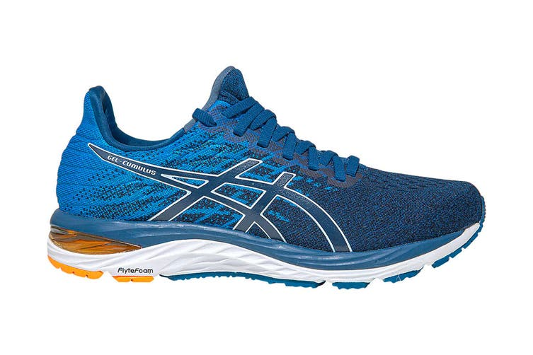 ASICS Men's Gel-Cumulus 21 Knit Running Shoe (Mako Blue/White, Size 10.5 US)