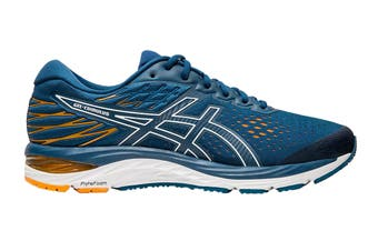 ASICS Men's Gel-Cumulus 21 Knit Running Shoe (Mako Blue/White, Size 9.5 US)